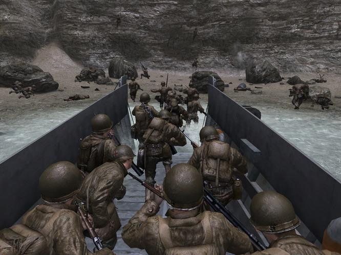 Auch in Call of Duty 2 durfte die Normandie-Landung nicht fehlen