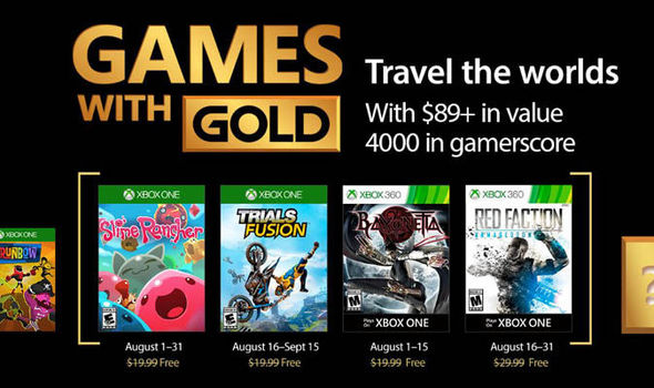 Neue gratis Games with Gold im August
