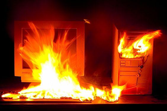 Wieso mein Rechner lichterloh brannte … und ich nur lächeln konnte