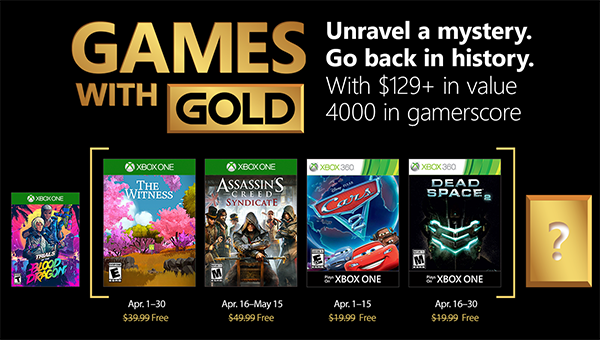 Games with Gold im April 2018!