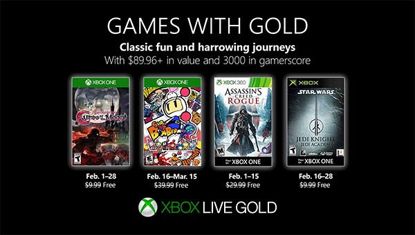 Games with Gold im Februar 2019