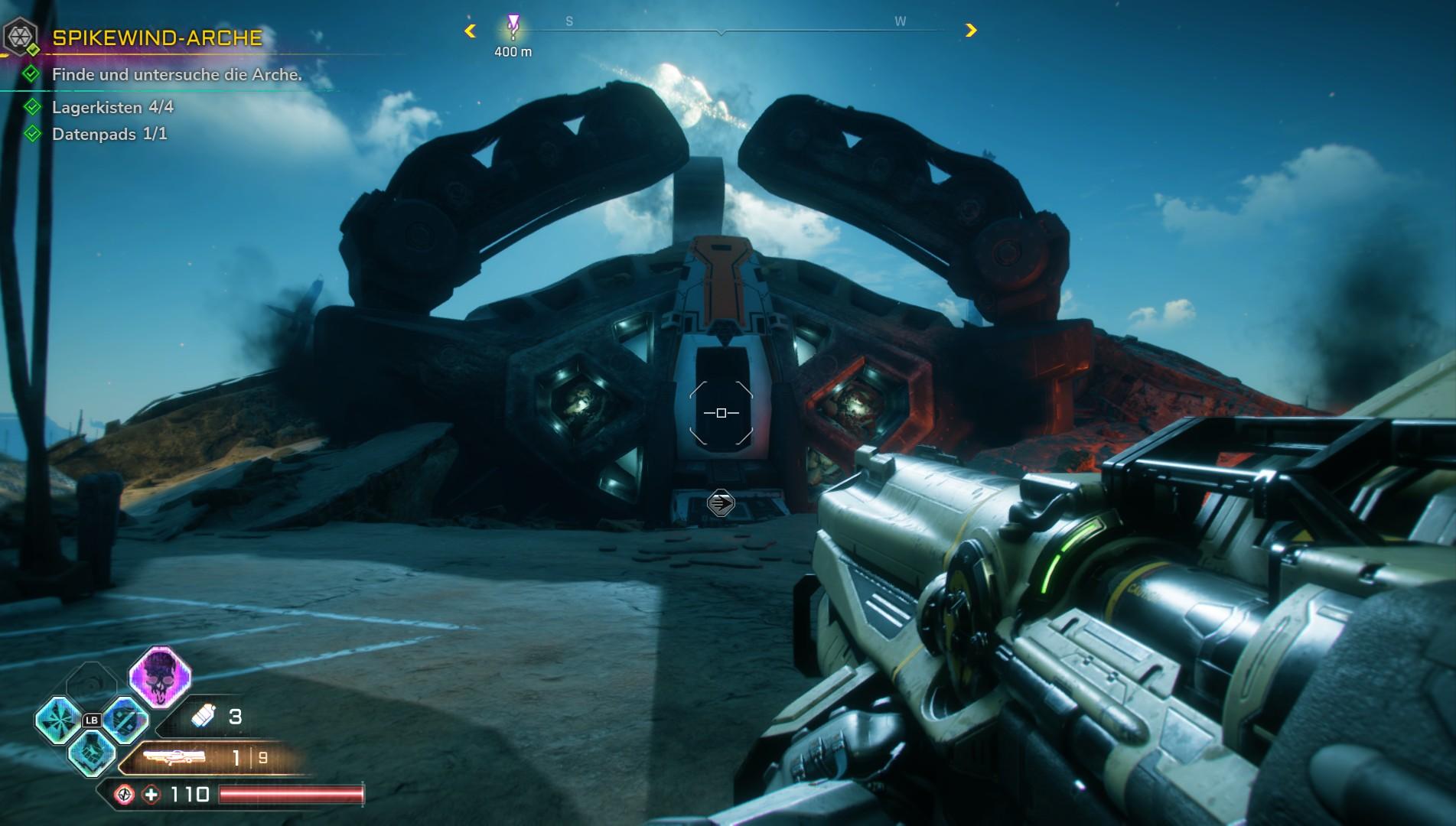 Neue Fähigkeiten und Waffen bekommt Ihr nur in so einer Arche. Meistens sind diese bewacht.