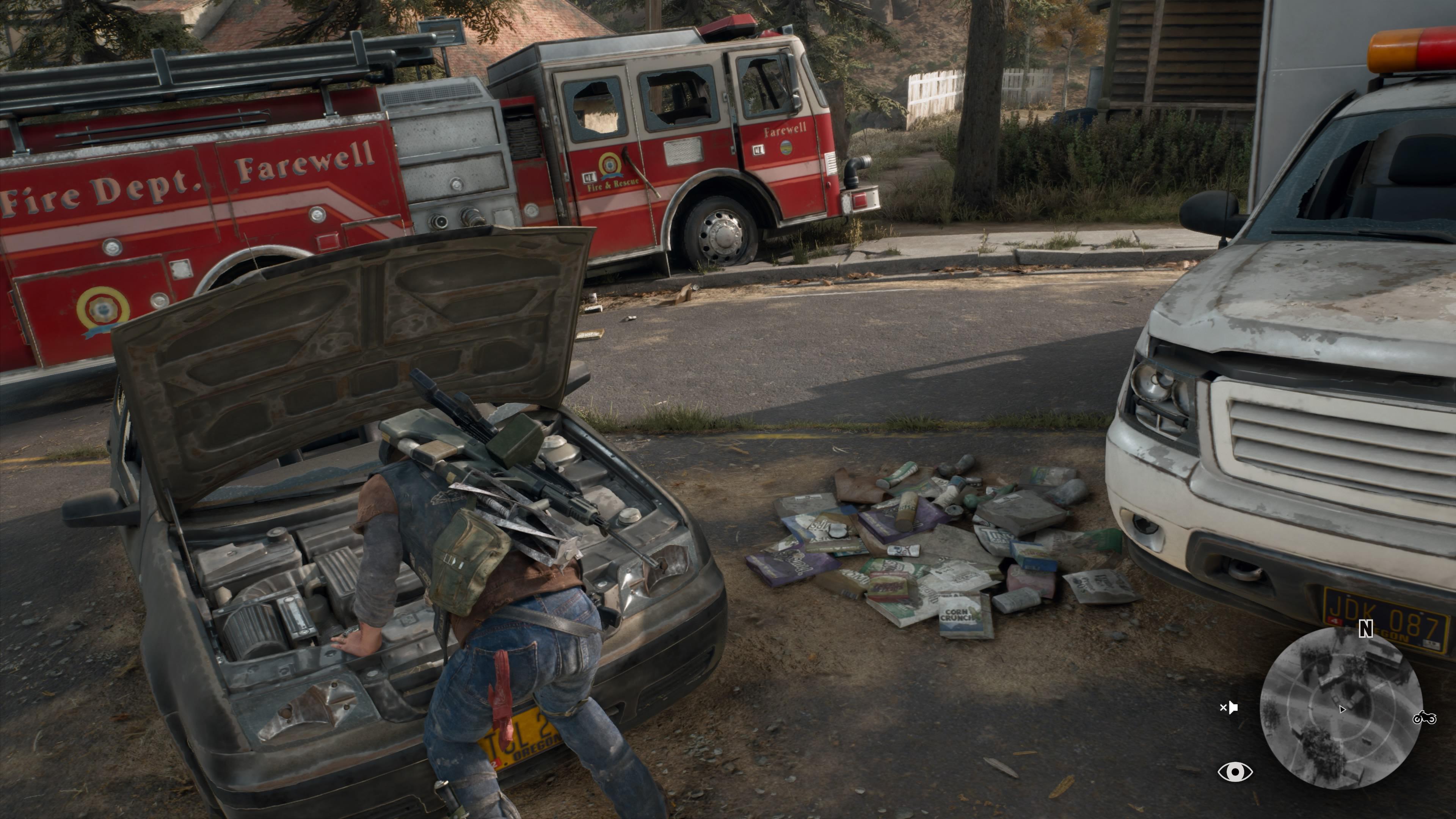 In kaputten Autos und verlassenen häusern findet Ihr alles was Ihr braucht.