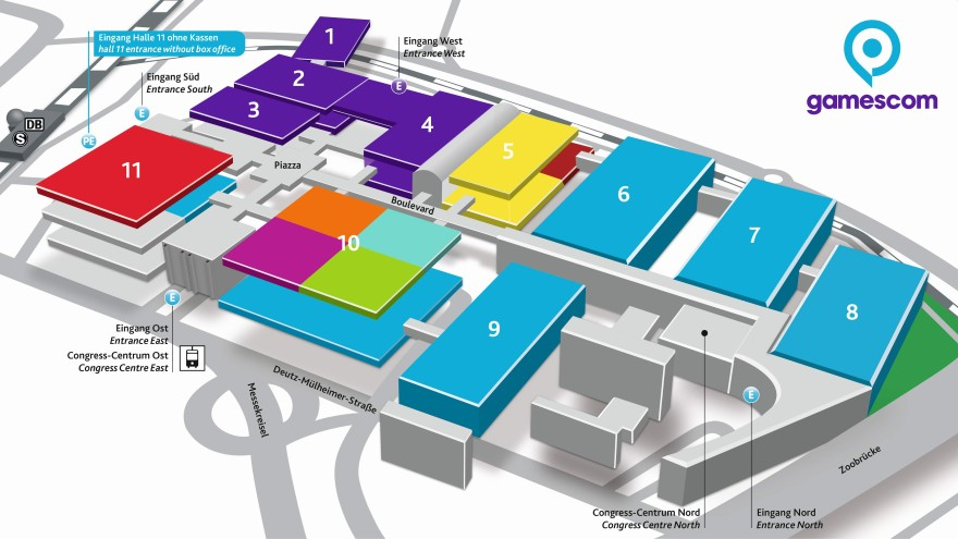 'gamescom 2019' – Hallenbelegung